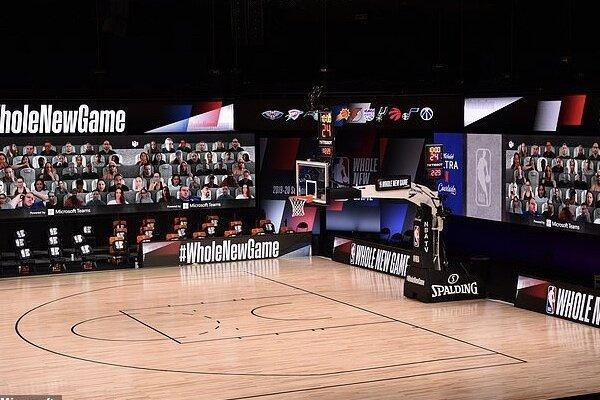 لیگ بسکتبال آمریکا با تماشاچیان مجازی برگزار می شود